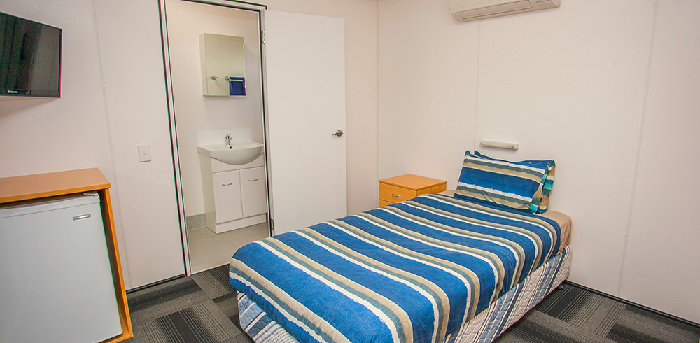 Guest accommodation showing bathroom